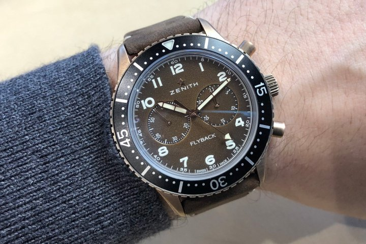 Zenith Pilot Cronometro Tipo CP-2 Flyback Watch Review 2