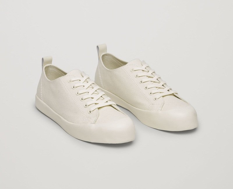 cos white leather sneakers