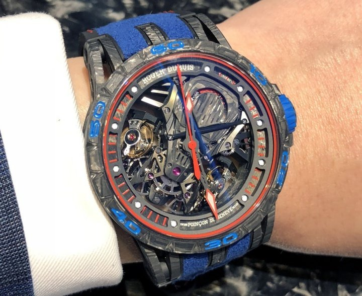 Roger Dubuis Aventador S Blue Watch Review 2