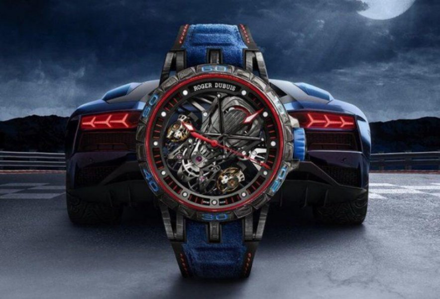 Roger Dubuis Aventador S Blue Watch Review 1