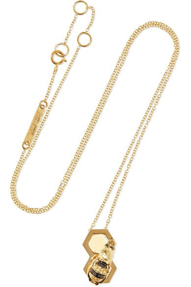 9-karat gold multi-stone necklace