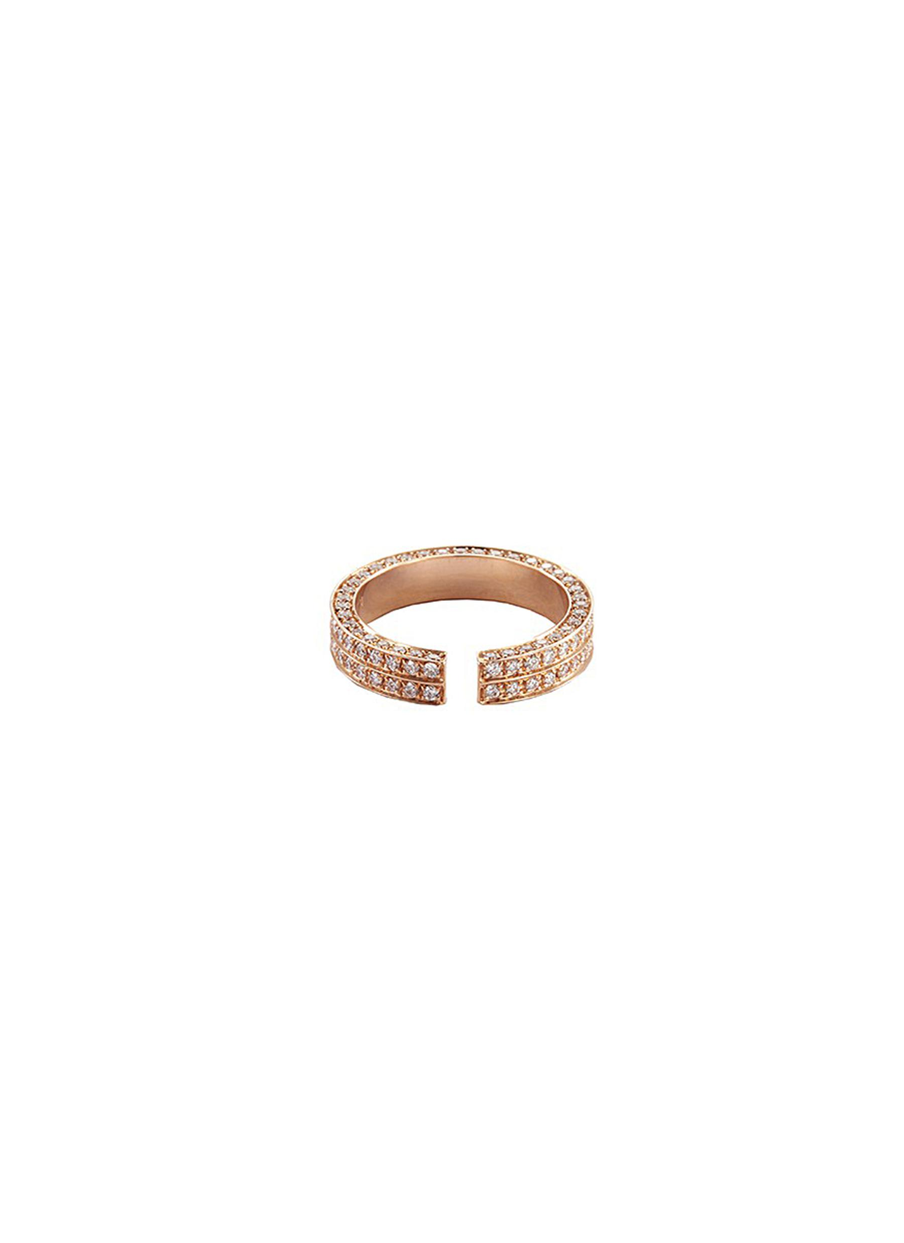 DIAMOND 18K ROSE GOLD OPEN RING