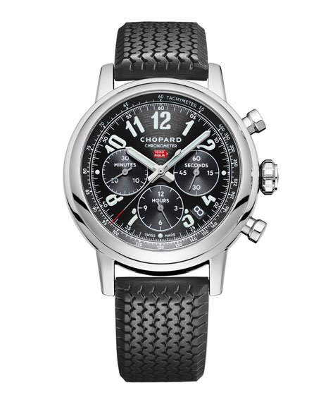 Racing Mille Miglia Classic Chronograph Watch with Tire Strap