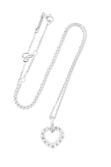 L'Heure du Diamant 18-karat white gold diamond necklace