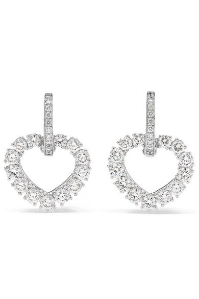 L'Heure du Diamant 18-karat white gold diamond earrings