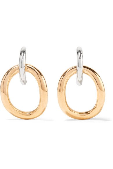 Inner Naho gold vermeil and silver earrings