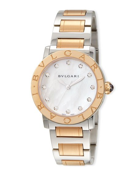 33mm BVLGARI Watch with Diamonds