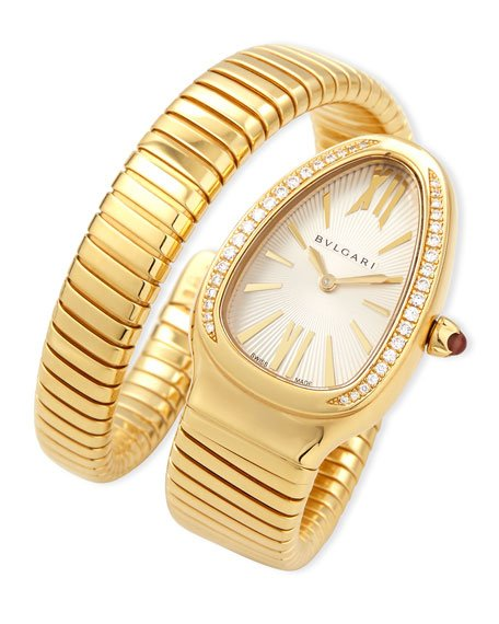 Serpenti Tubogas Yellow Gold Diamond Watch