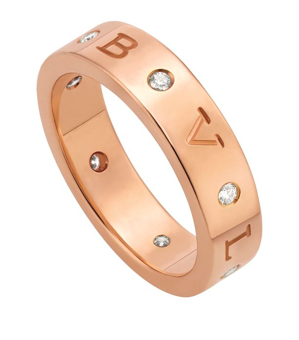 Rose Gold and Diamond B.Zero1 Ring