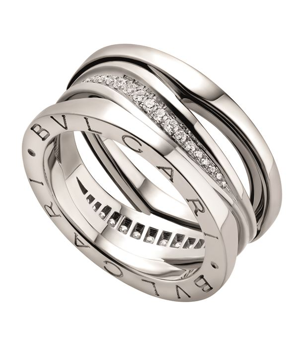 White Gold and Diamond B.Zero1 Legend Ring