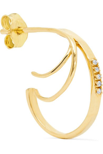 SANSOEURS 18-karat gold diamond earring