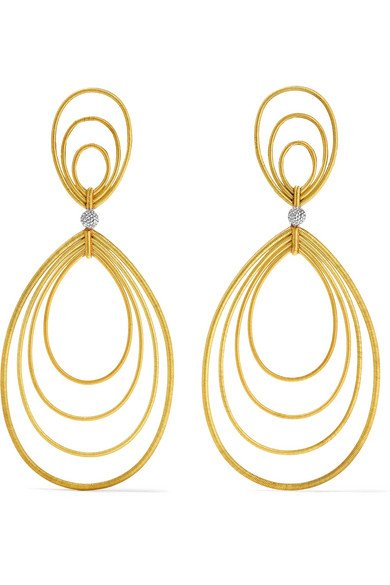 BUCCELLATI Hawaii Waikiki 18-karat yellow and white gold earrings