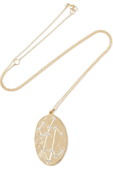 BROOKE GREGSON Leo 14-karat gold diamond necklace