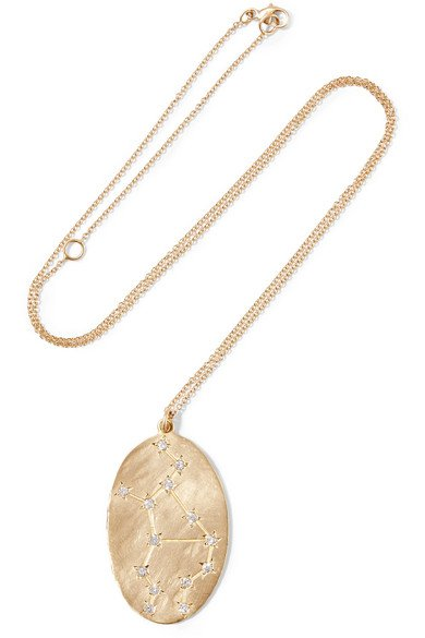 BROOKE GREGSON Virgo 14-karat gold diamond necklace