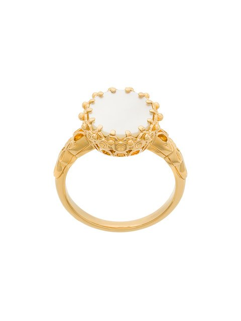 mother of pearl large floris ring
