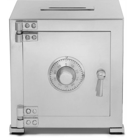 Sterling Silver Combination Safe Money Bank