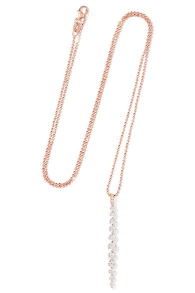 ANITA KO Twiggy 18-karat rose gold diamond necklace