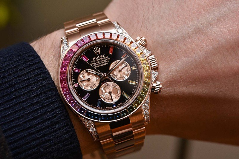 Rolex Oyster Perpetual Cosmograph Daytona 'Rainbow' Watch Review 3