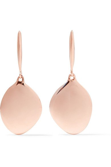 MONICA VINADER Nura rose gold vermeil earrings