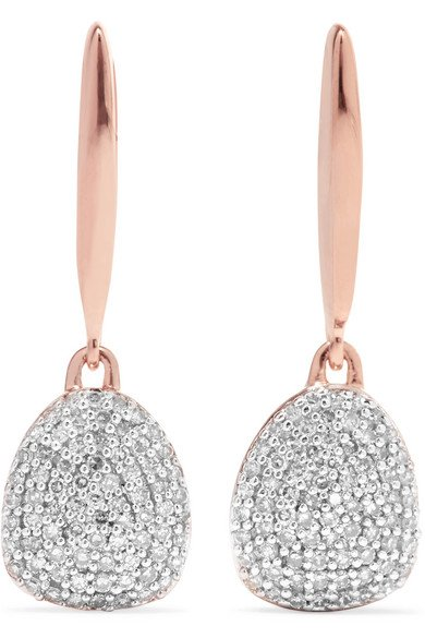 MONICA VINADER Nura rosegold vermeil diamond earrings