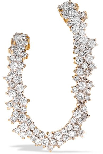 ANA KHOURI Izabel 18-karat gold diamond earring