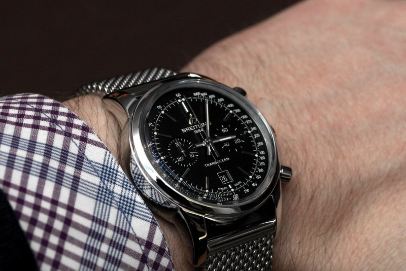 Breitling Transocean 38 Chronograph Watch Review 3