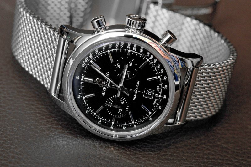 Breitling Transocean 38 Chronograph Watch Review 2
