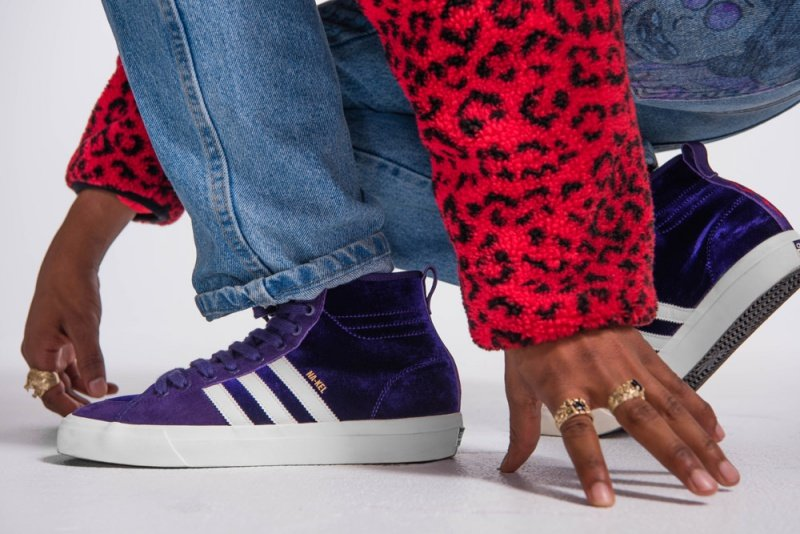 """Adidas Matchcourt High RX Na-Kel Smith """"Purple Velvet"""" Sneakers Review 5"""