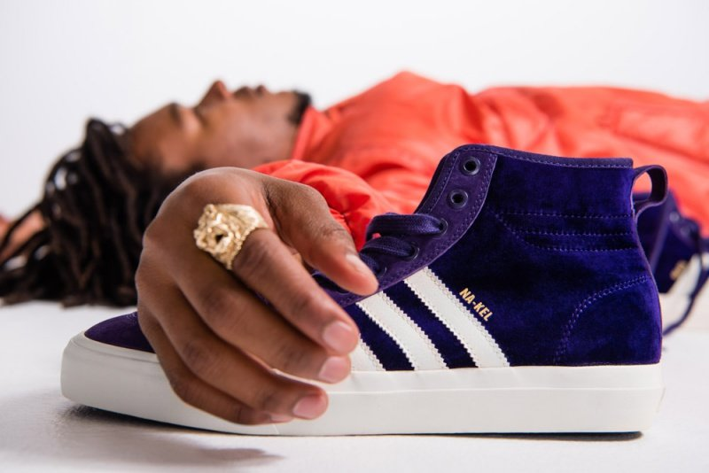 """Adidas Matchcourt High RX Na-Kel Smith """"Purple Velvet"""" Sneakers Review 4"""
