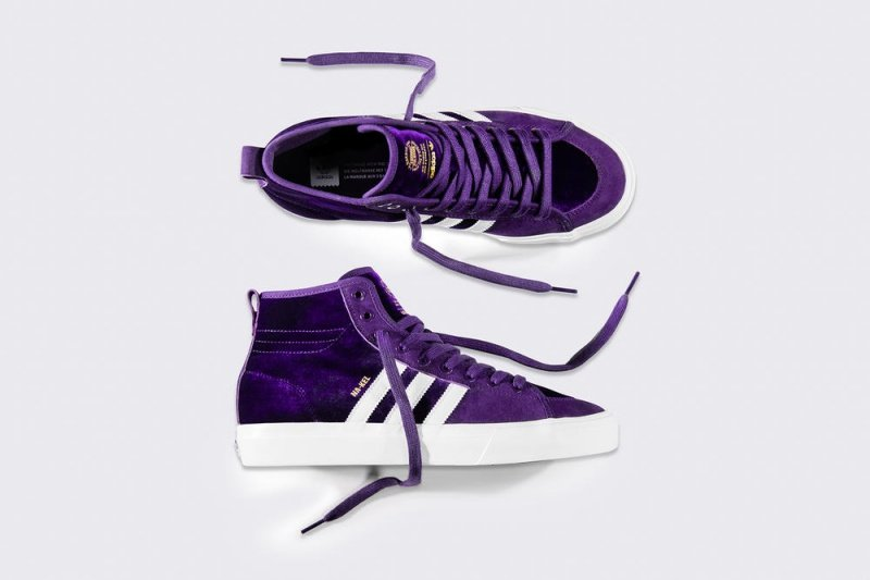 """Adidas Matchcourt High RX Na-Kel Smith """"Purple Velvet"""" Sneakers Review 1"""