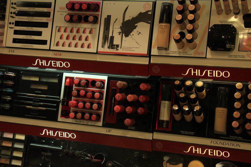 Shiseido luxurious cosmetic products in Meppen, Germany