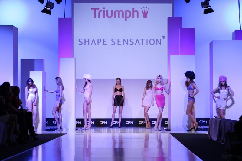 Triumph clothing collection at the international exhibition of the fashion industry, Collection Premiere Moscow