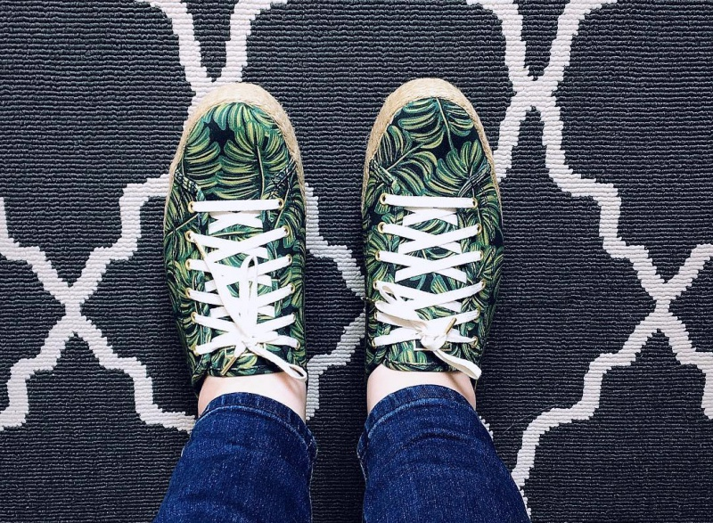 Keds X Rifle Paper Co. Triple Kick Sneakers in Paper Palms Sneakers Review 4