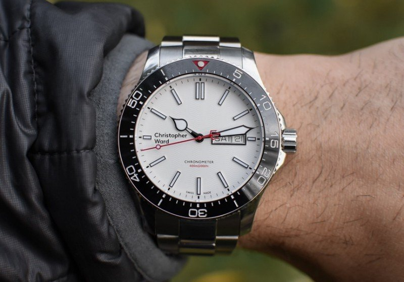 Christopher Ward C60 Trident Day Date COSC Watch Review 7