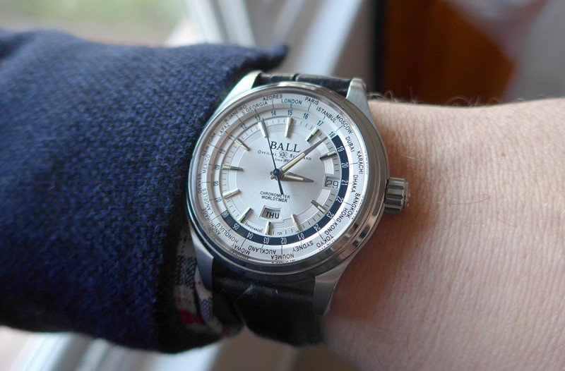 BALL Trainmaster Worldtime Chronograph Watch Review 7