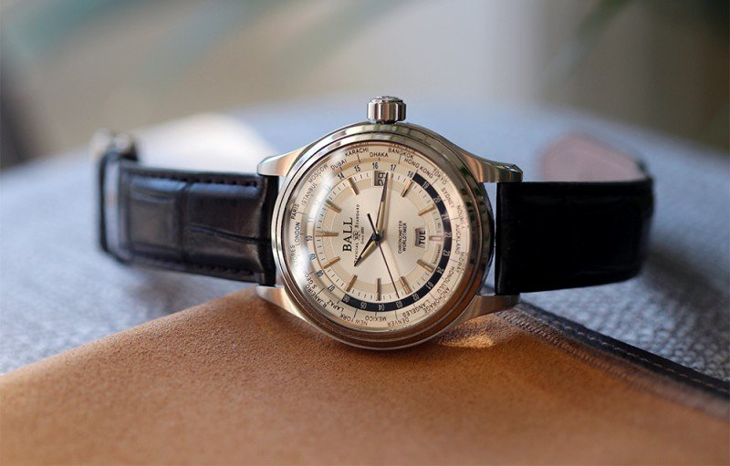 BALL Trainmaster Worldtime Chronograph Watch Review 4
