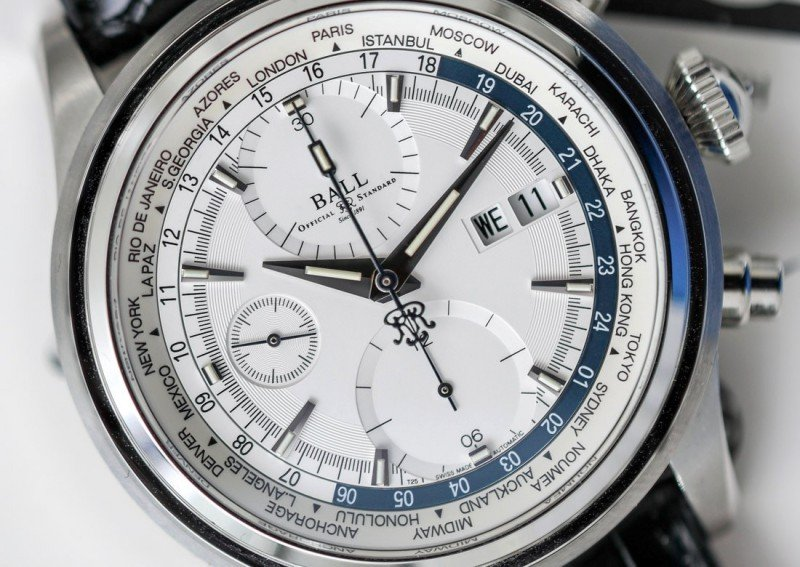 BALL Trainmaster Worldtime Chronograph Watch Review 3