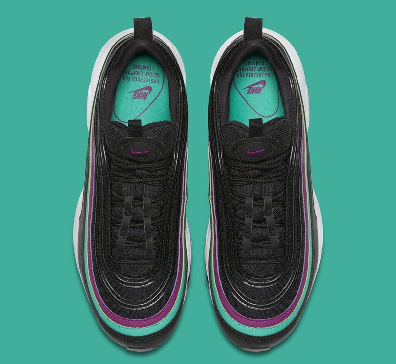 Nike WMNS Air Max 97 Black Bright Grape Sneakers 6