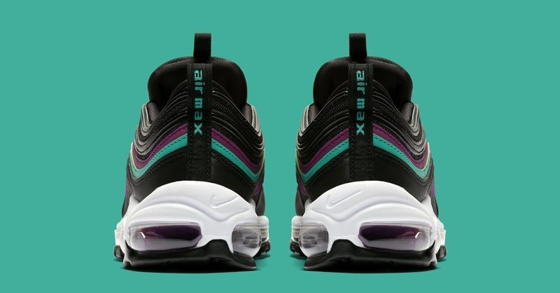 Nike WMNS Air Max 97 Black Bright Grape Sneakers 5
