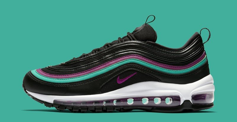 Nike WMNS Air Max 97 Black Bright Grape Sneakers 4
