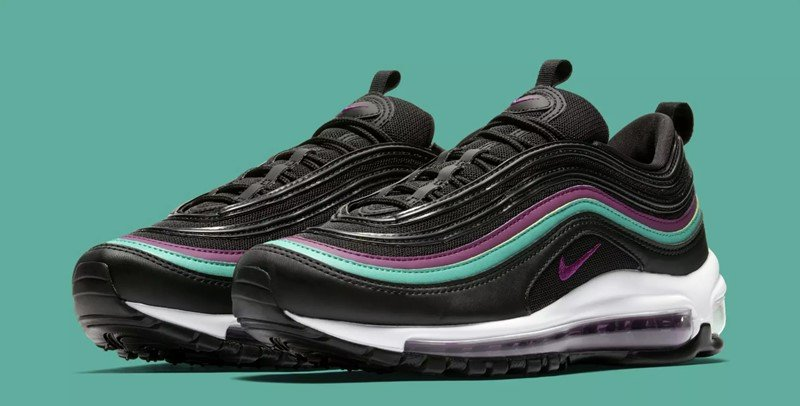 Nike WMNS Air Max 97 Black Bright Grape Sneakers 3