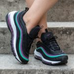 Nike WMNS Air Max 97 Black Bright Grape Sneakers 7