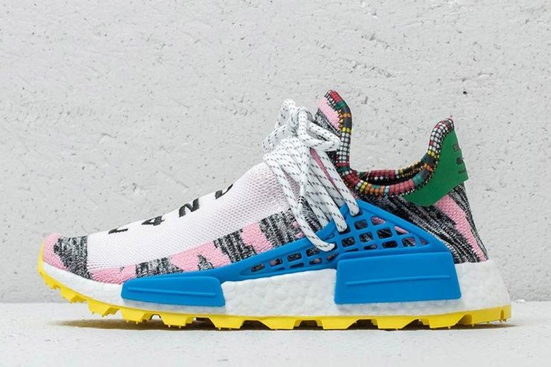 Pharrell x Adidas NMD Hu Solar Light Pink Sneakers