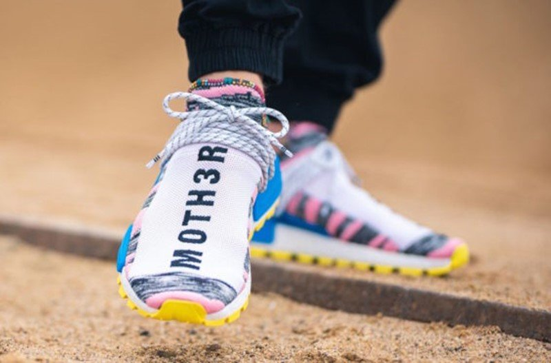 Pharrell x Adidas NMD Hu Solar Light Pink Sneakers 3
