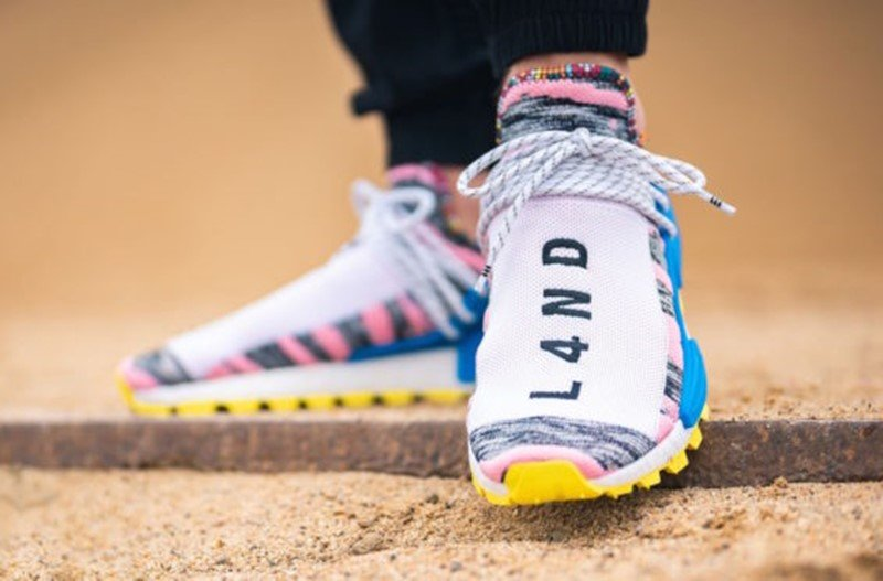 Pharrell x Adidas NMD Hu Solar Light Pink Sneakers 2