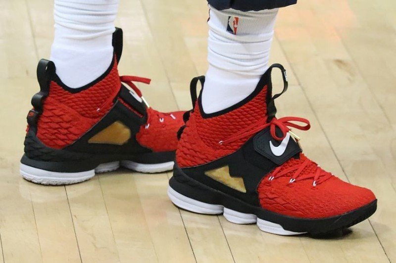 bedf19115aa88e Nike LeBron 15  Red Diamond Turf  Sneakers Review 5