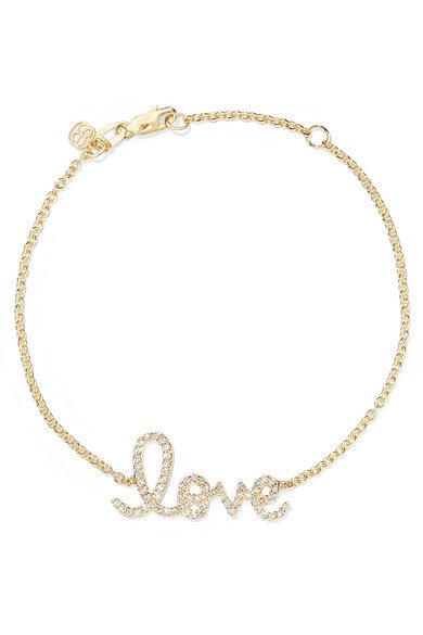 Love medium 14-karat gold diamond bracelet