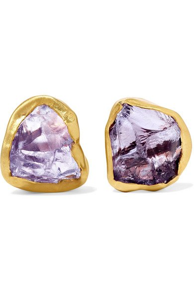18-karat gold amethyst earrings