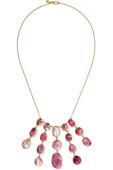 18-karat gold spinel necklace