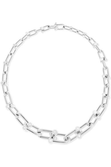 Link sterling silver necklace